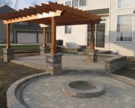 Gazebo With Fire Pit Ideas by Outdoor Paver Trends In Ground Landscape Lighting