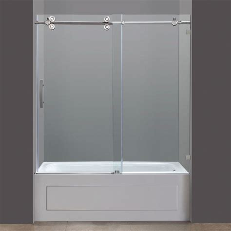 Glass Door Tub Avalux Gs 48 Inch X 34 Inch X 72 Inch Completely Frameless Shower Enclosure With Glass Shelves