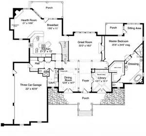 Luxury One Story House Plans House Plan 97756 At Familyhomeplans Com