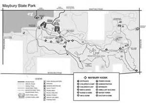 Maybury State Park Map by Maybury State Park History Trail Michigan Trail Maps