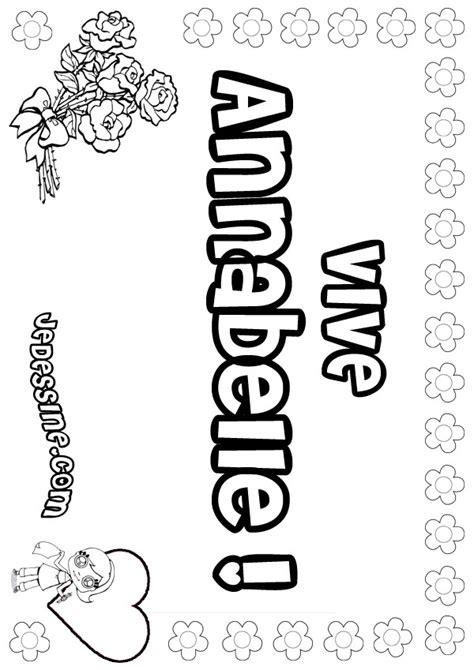 Coloriages annabelle - fr.hellokids.com