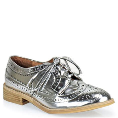 oxford shoes silver jeffrey cbell townsend leather oxford in metallic