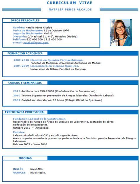 Modelo De Curriculum Vitae Quimico Plantillas Y Modelos De Curriculum En Franc 233 S Trabajar En Francia Cvexpres Page 7