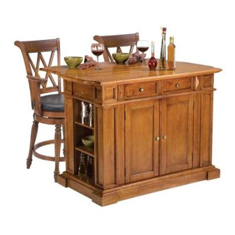island for kitchen home depot home styles traditions distressed oak drop leaf kitchen