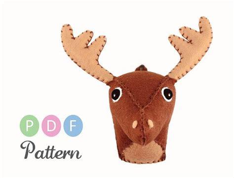pattern for felt reindeer head pdf pattern small felt deer head faux taxidermy tutorial