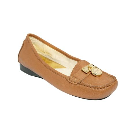 mk flats shoes michael kors hamilton loafer flats in brown lyst