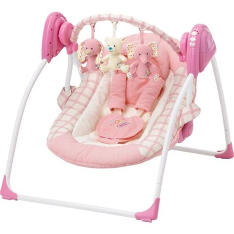 pink graco swing baby by chad valley deluxe baby swing pink other baby