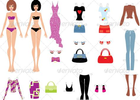 How To Make Paper Clothes - paper dolls with clothes by gurzzza graphicriver