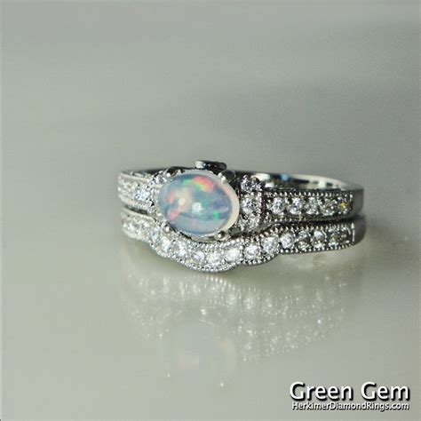 opal engagement rings opal engagement ring and matching