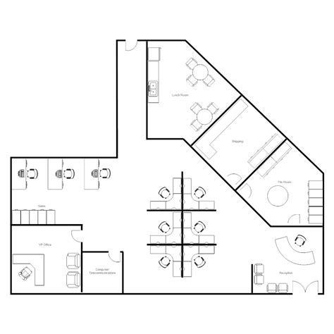 draw office floor plan cubicle floor plan