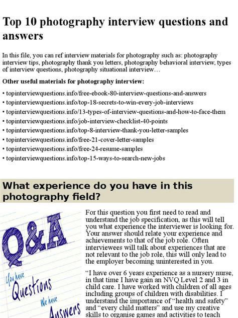 best biography interview questions top 10 photography interview questions and answers pptx