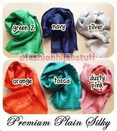 Pashmina Katun 2 premium plain silky pashmina dg bahan curan antara katun polyester pinggiran