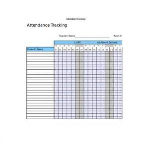 excel attendance template attendance tracking template 10 free word excel pdf