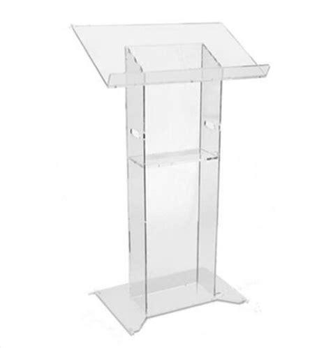 podium style reception desk acrylic stand clear acrylic lectern cheap church podium