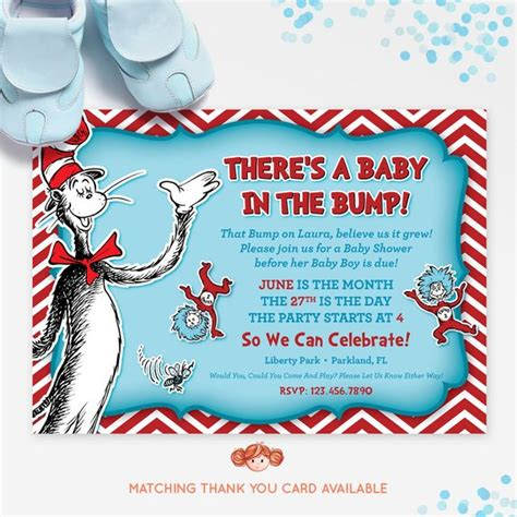 Cat In The Hat Baby Shower Invitations by Dr Seuss Baby Shower Invitation Cat In The Hat By