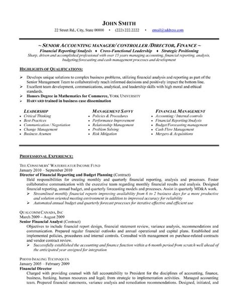best resumes for accounting sle resume for accounting manager best resume gallery