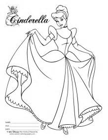 anime cinderella colouring pages