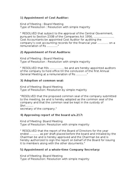 extraordinary general meeting minutes template image