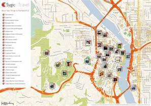 map of portland attractions sygic travel