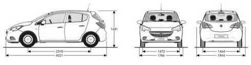 Opel Corsa Dimensions Opel Corsa Parametry Auta S R O Opel P蝎 237 Bram