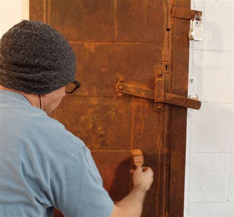 faux rust spray paint faux rust patina door from the studio of finkelstein