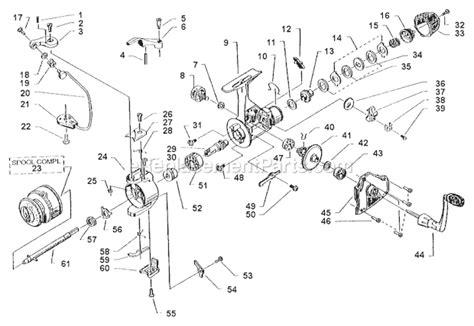 fishing reel parts diagram abu garcia axxar 3000 parts list and diagram 00