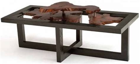 natural wood furniture modern style coffee table