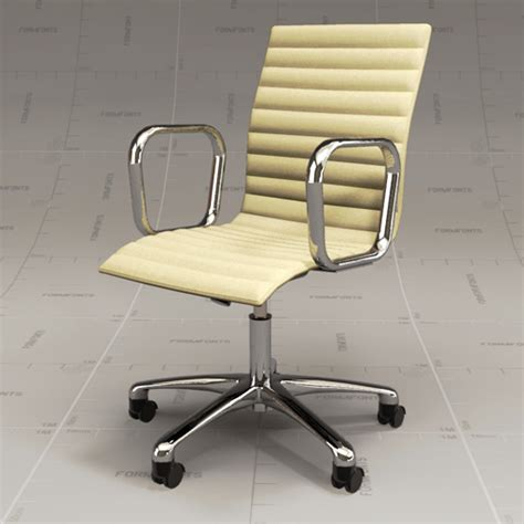 ivory leather desk chair cb ripple ivory chair 3d model formfonts 3d models