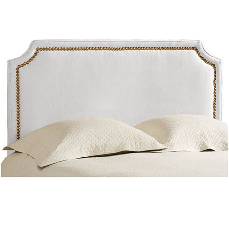 headboard with nailheads stevenson upholstered headboard with brass nailheads