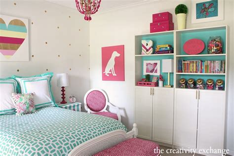 diy bedroom decor for tweens little girl s room reved to bright and bold tween room