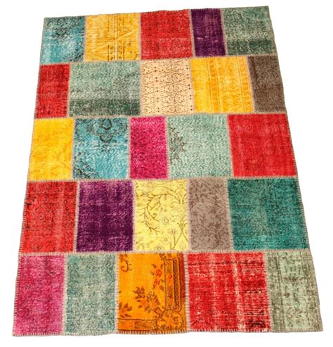 Carpet Patchwork - patchwork vintage carpet 249 x 171 cm