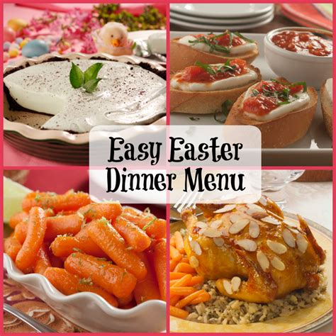 easy easter dinner menu mrfood com