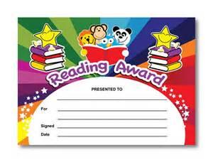 certificate reading award rainbow readers