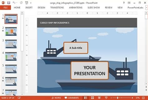 themes for powerpoint ship animated cargo ship powerpoint template