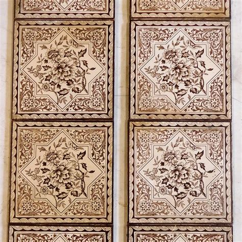 Fireplace Tile Sets by Highly Detailed Floral Fireplace Tile Set Buy From Vfs