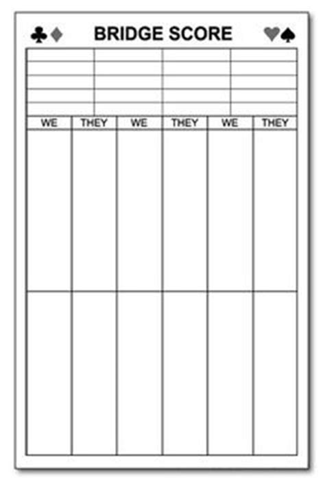 chicago bridge score cards templates bridge score card template 28 images custom card