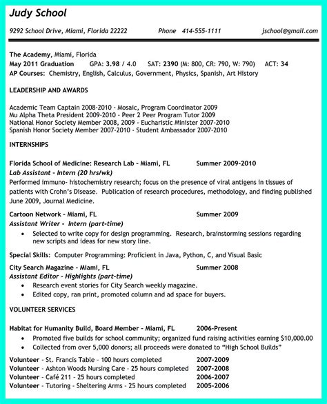 The Perfect College Resume Template To Get A Job College Resume Template