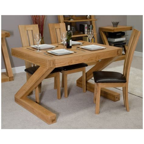 Chunky Dining Table Zouk Solid Oak Designer Furniture Small Chunky Dining Room Table Ebay