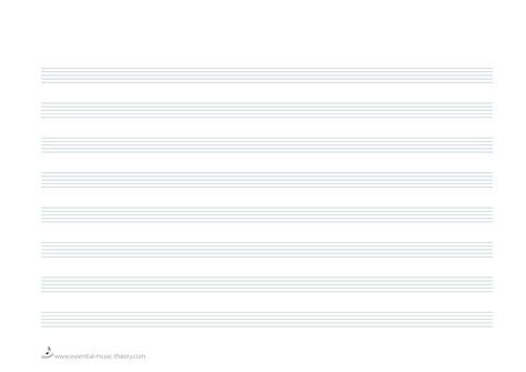a4 guitar treble clef tablature paper portrait download and
