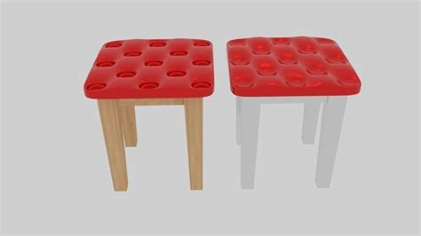 Softer Stool by Soft Stool 3d Model Obj 3ds Fbx Blend Dae Mtl
