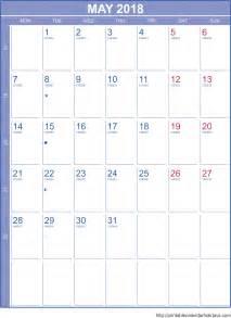 Calendar For 2018 Printable May 2018 Calendar Template Portrait Printable 2017