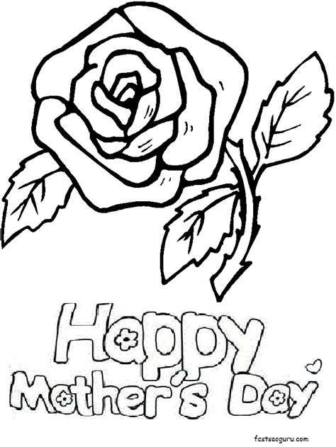 coloring pages to print for s day printable roses for happy mothers day coloring pages