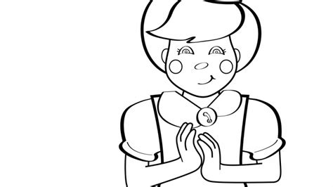 coloring pages of clapping hands clap your hand coloring page mother goose club