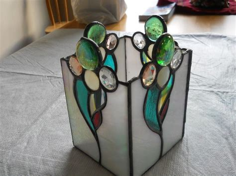 Stained Glass Vase by Handmade Custom Stained Glass Vase By Chapman Enterprises