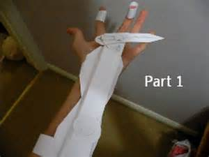 How To Make Blade Out Of Paper - assassin s creed 3 easy paper swich blade tutorial