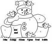 snowman color number results calendar 2015