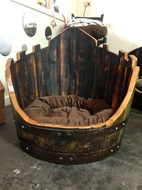 whiskey barrel dog house wine whiskey barrel dog bed bella s castle doggy stuff i woof pinterest