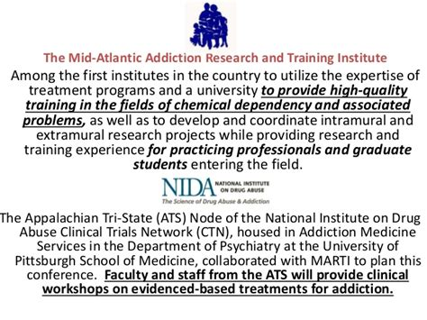 Pittsburgh Programs For Detox And Rehab by The 2013 Mid Atlantic Addiction Research And