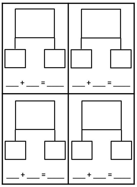 bond template 10 best images of blank number bond worksheets blank