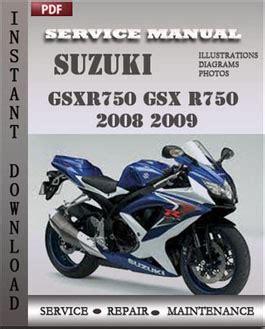 small engine repair manuals free download 2008 suzuki xl7 interior lighting suzuki gsxr750 gsx r750 2008 2009 service manual download repair service manual pdf